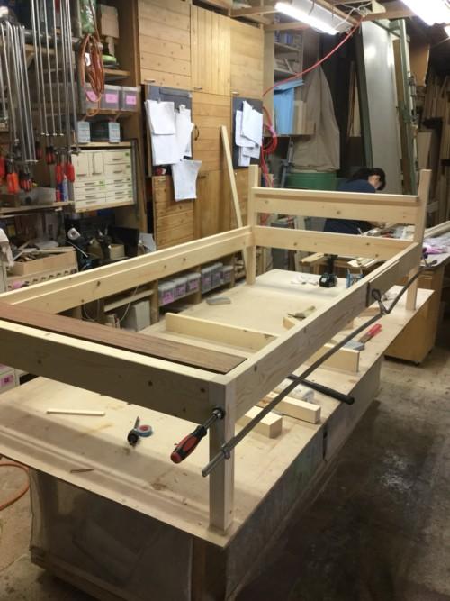 オーダーの木製ベッド