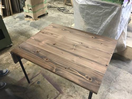 アイアンと足場板のオーダーテーブル