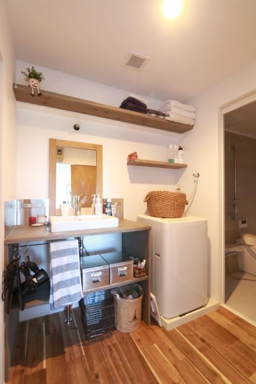 モルタルの洗面台