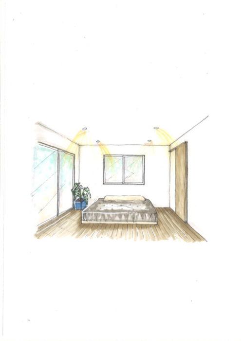 1F寝室イメージパース